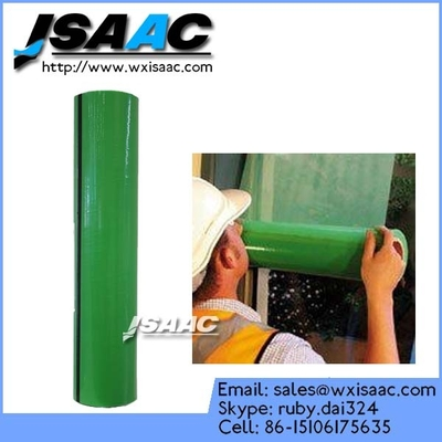 Construction use temporary window glass protective film
