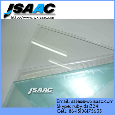 Adhesive protective film for plastic sheet