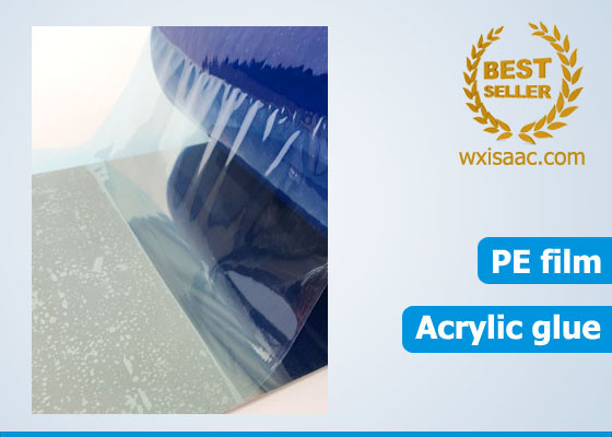 China 30 micron less viscous scratch proof protective film for stainless steel ba 1500 mm x 1000m supplier