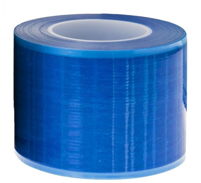 Non-adhesive edges blue barrier film with dispenser