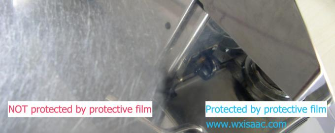 No residue protective film for bright annealed stainless steel