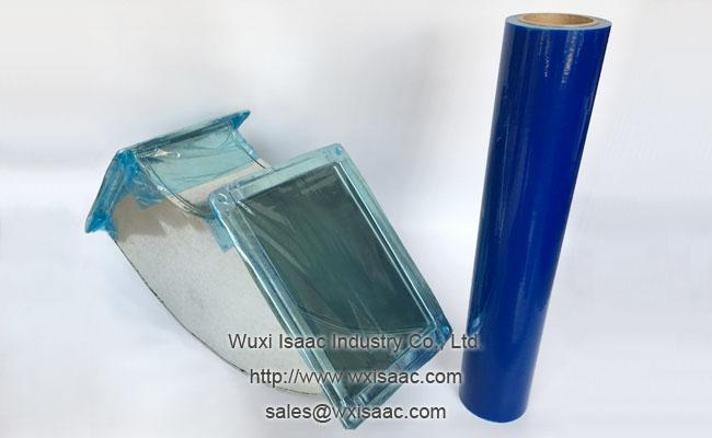 Puncture resistant duct wrap film temporary pe protective film with no residue adhesive